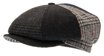 Newsboy cap - Alan Re-source Patchwork - CTH Ericson