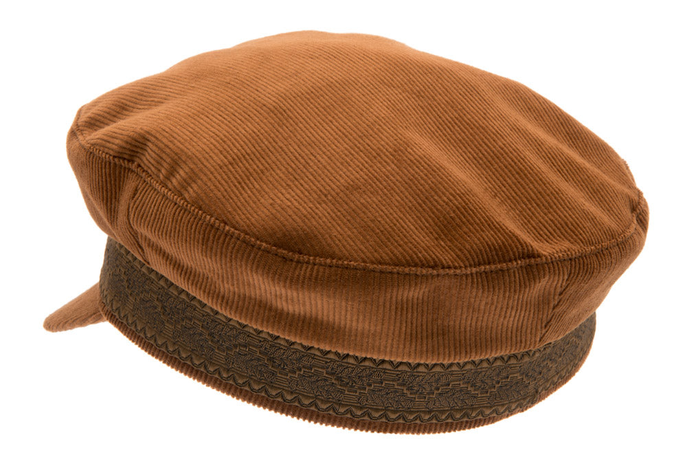 Fiddler cap - Turi Corduroy Tan - CTH Ericson of Sweden
