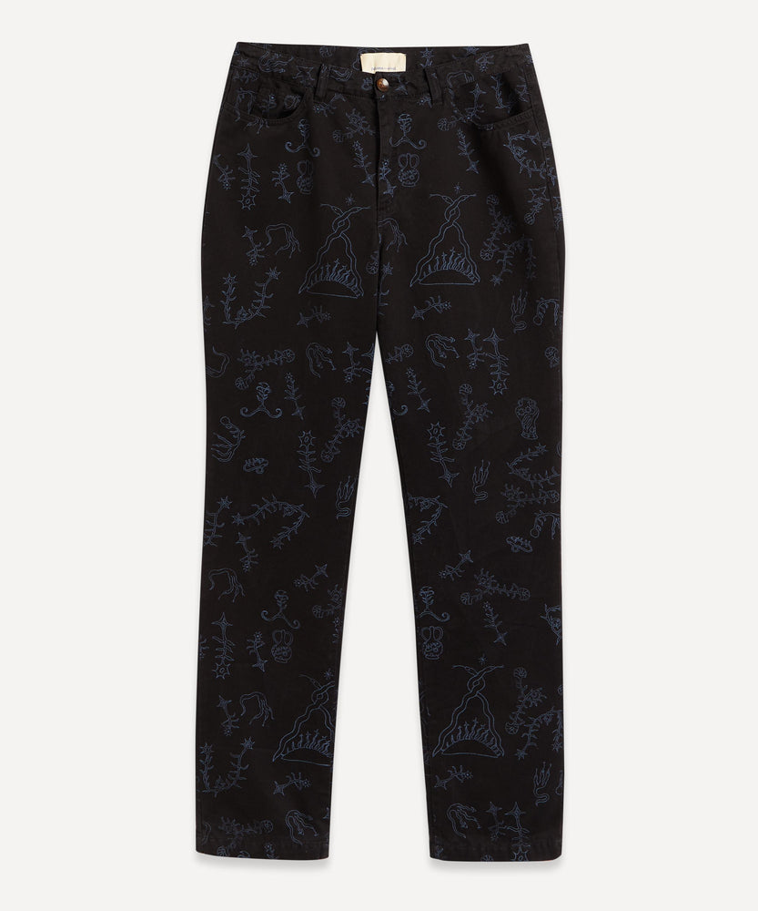 PALOMA WOOL Veneno Printed Pant Black LEO BOUTIQUE