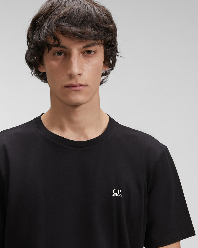 CP Company 30/1 Jersey Chest Logo T-Shirt | Black Leo Boutique