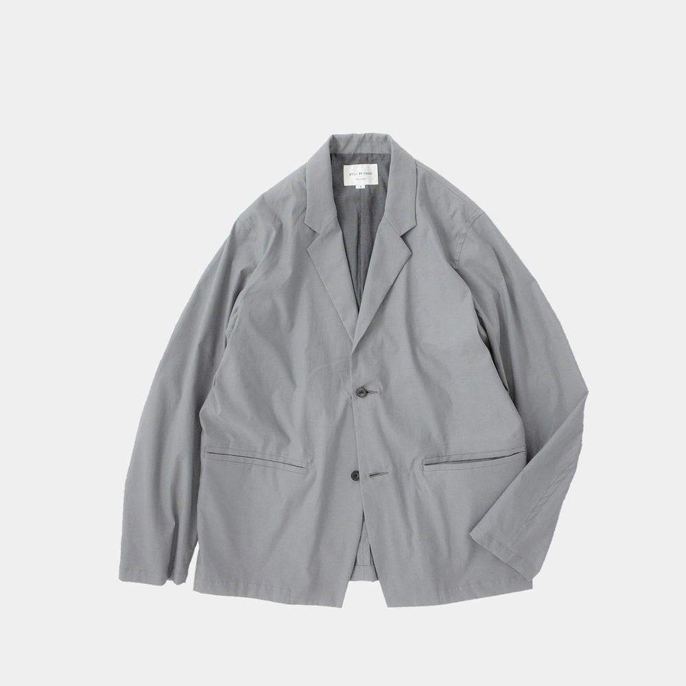 Relaxed 2 Button Jacket | Blue Grey