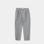4 Tuck Slim Tapered Pants | Blue Grey
