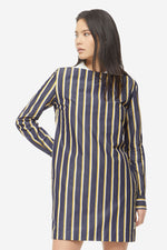 Cara Dress | Navy Stripe