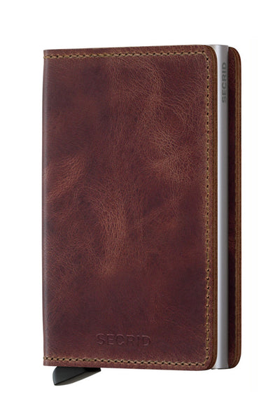 Slim Wallet | Vintage Brown - Leo Boutique