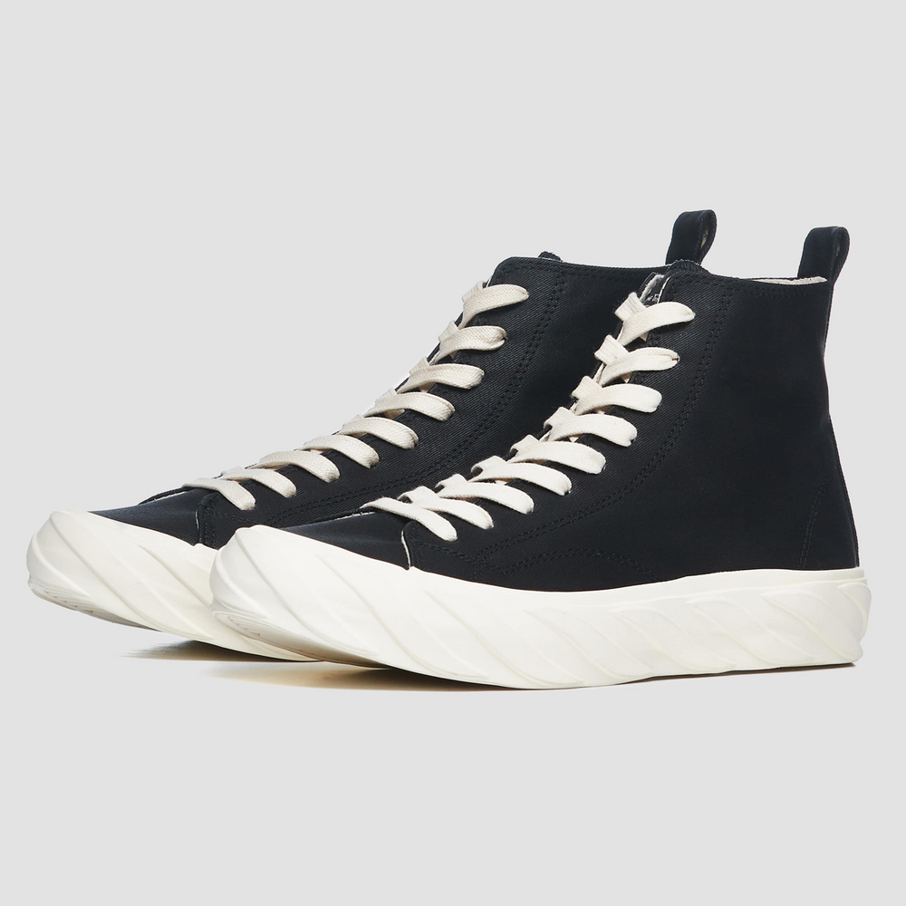 High Top Carbon Coated Canvas | Black