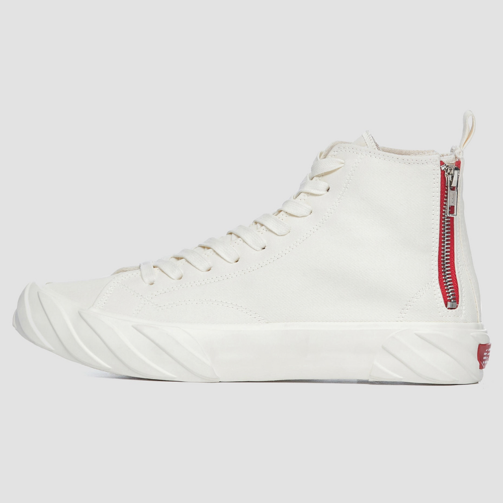 High Top Carbon Coated Canvas | White