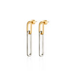 Stevie Drop Earrings | Two-Tone