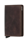 Slim Wallet | Vintage Chocolate - Leo Boutique