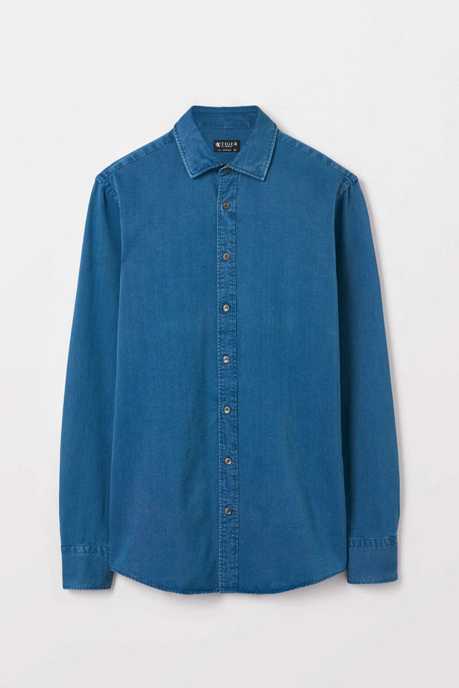 Fridolf Cotton Shirt | Blue