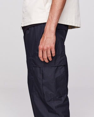 POP Cargo Track Pants | Black Mini Ripstop