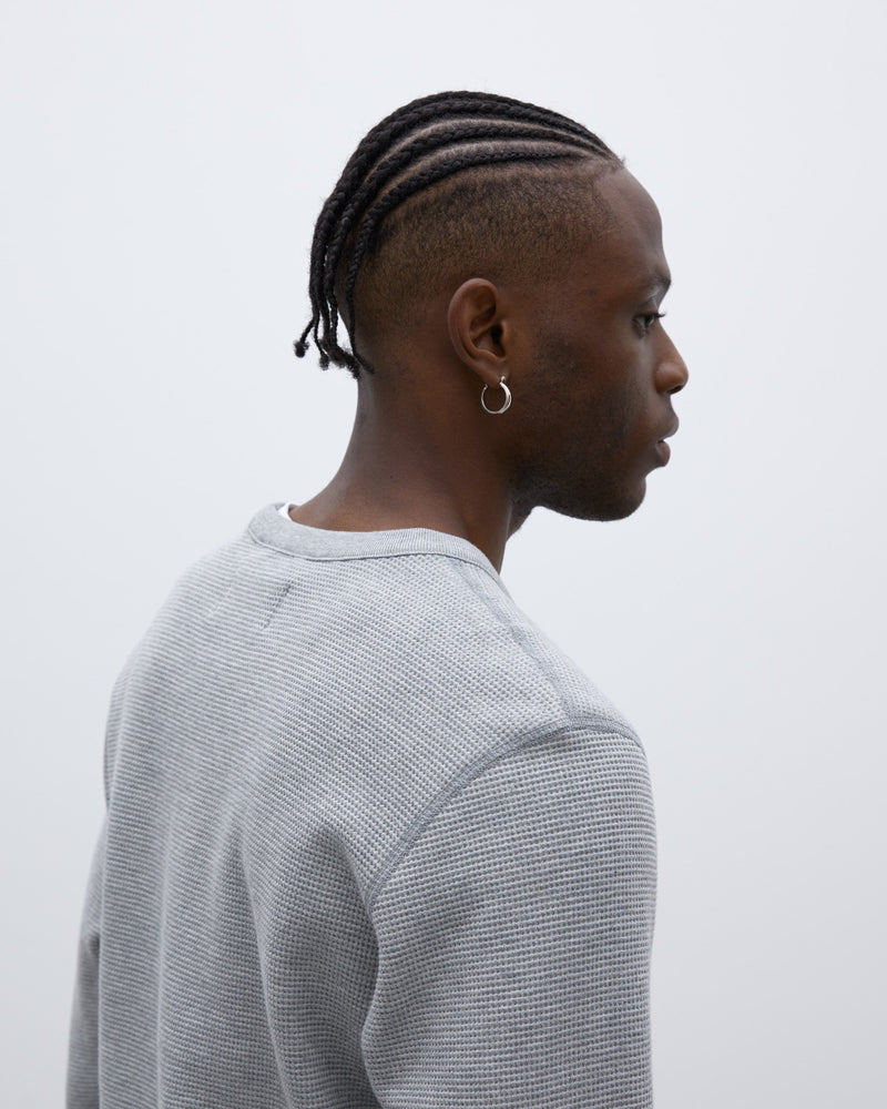 WINGS + HORNS Flatback Thermal Crewneck | Heather Grey LEO BOUTIQUE