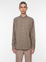BD Flannel Melange Shirt | Black/Ochre/Off White