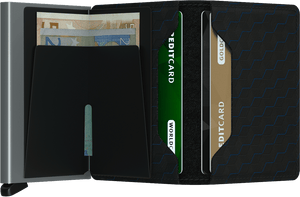 Slim Wallet | Optical Black-Titanium