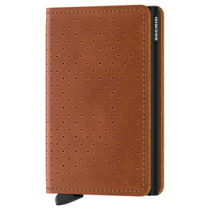 Slim Wallet | Perforated Cognac