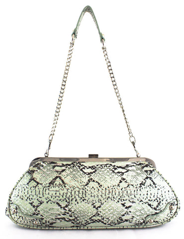 3680043 FFANY Exclusive Alligator Embossed Genuine Leather Shoulder Evening Clutch Handbag