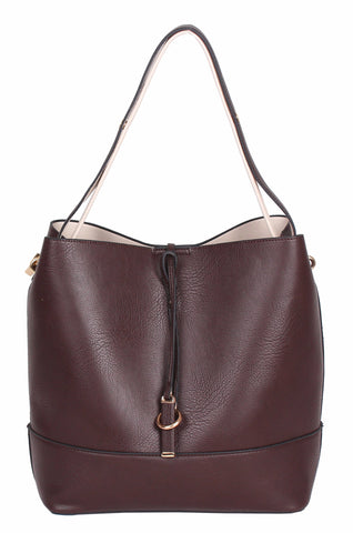 71108 Chic Faux Leather 2-In-1 Cross-body Shoulder Bucket Hobo Handbag Clearance Free Shipping