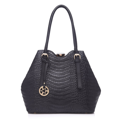 79083 Alligator Embossed Faux Leather Rhinestone Clutch Cross-body Shoulder Tote Purse Clearance
