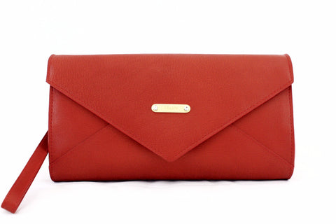8674030 FFANY Exclusive Genuine Leather / Patent Leather Cross-body Envelop Clutch Evening Purse SALE