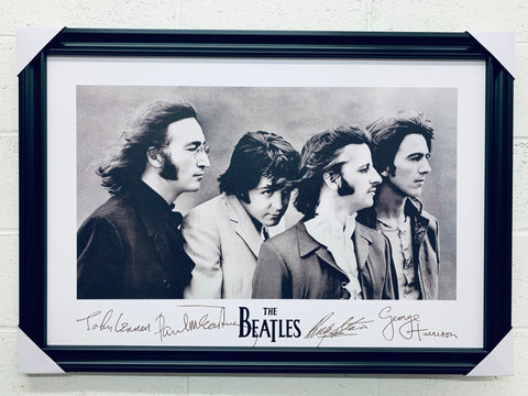 "24""x36"" THE BEATLES - Signatures"