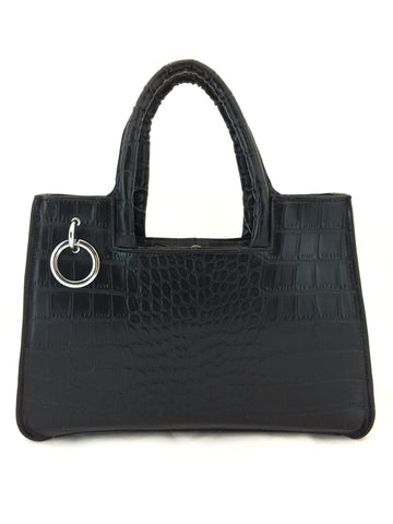 A1048 Alligator Embossed Genuine Leather Cross-body Tote Handbag New Arrivals Free Shipping