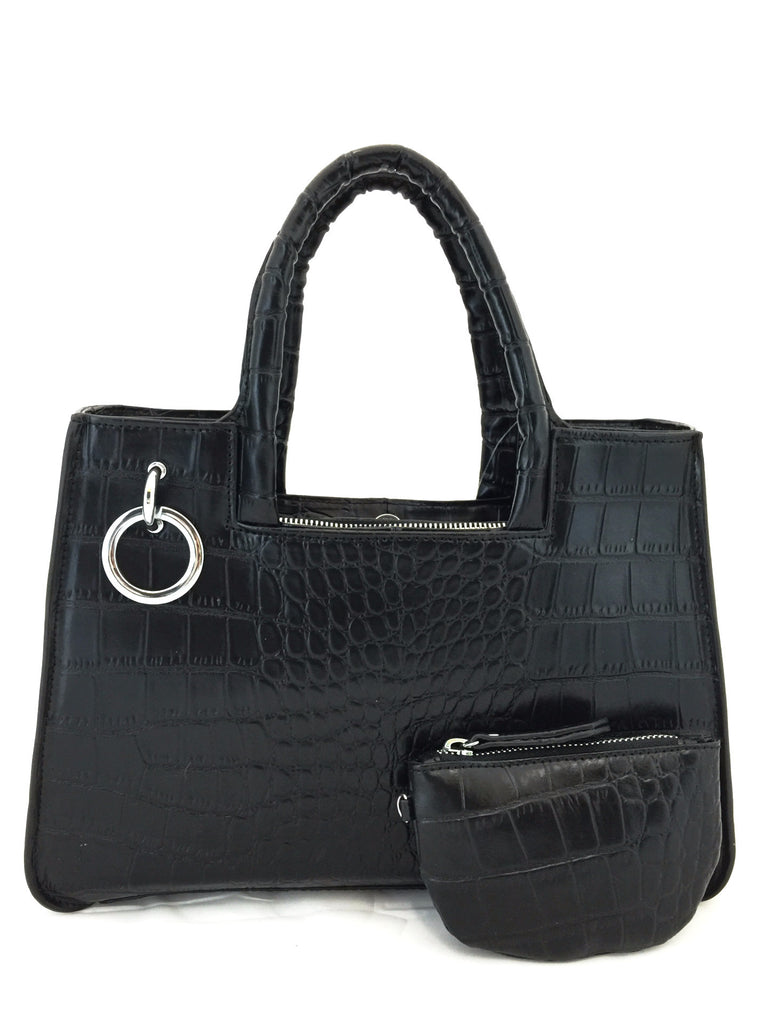 A1048 Alligator Embossed Genuine Leather Cross-body Tote Handbag New Arrivals Free Shipping - FFANY GIFTS - 6