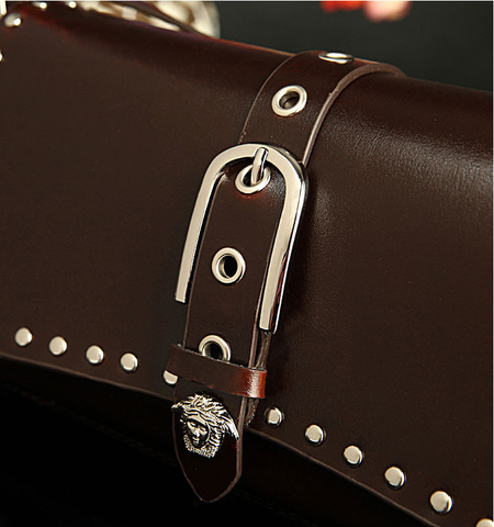 A2010 Classic Belt Buckle Decorted Genuine Leather Cross-body Shoulder Handbag New Arrivals - FFANY GIFTS - 3