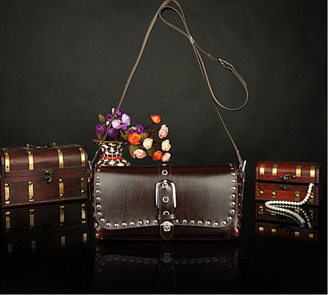 A2010 Classic Belt Buckle Decorted Genuine Leather Cross-body Shoulder Handbag New Arrivals - FFANY GIFTS - 4