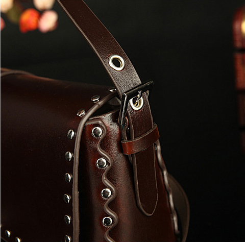 A2010 Classic Belt Buckle Decorted Genuine Leather Cross-body Shoulder Handbag New Arrivals - FFANY GIFTS - 5