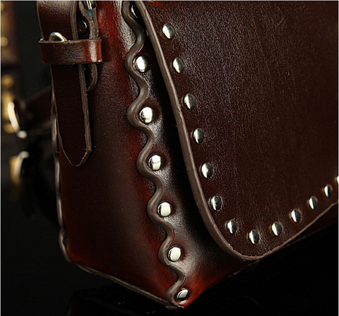 A2010 Classic Belt Buckle Decorted Genuine Leather Cross-body Shoulder Handbag New Arrivals - FFANY GIFTS - 6