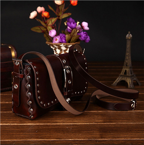A2010 Classic Belt Buckle Decorted Genuine Leather Cross-body Shoulder Handbag New Arrivals - FFANY GIFTS - 10