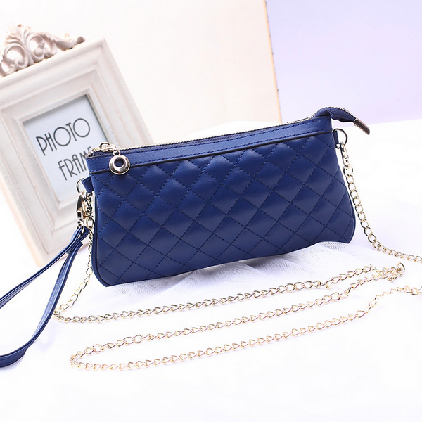 8c12186cfd6 A4036 Small Fancy Checker Pattern Genuine Leather Cross-body Clutch ...