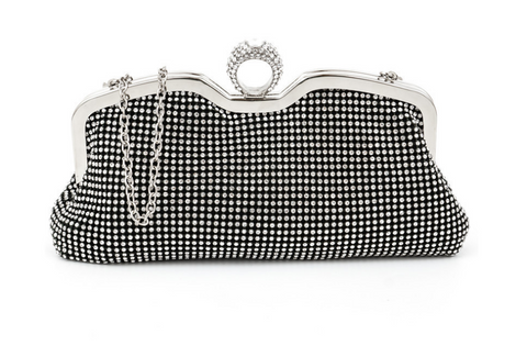 A4043 Classy Small Rhinestone Party Dinner Cross-body Evening Clutch Purse SALE