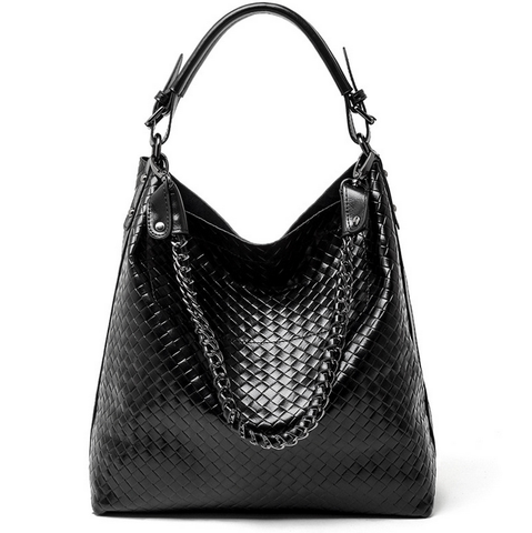 A5047 2-IN-1 Braided Embossed Genuine Leather Shoulder Cross-body Hobo Bucket Purse New Arrivals - FFANY GIFTS - 2
