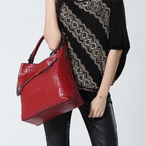A5047 2-IN-1 Braided Embossed Genuine Leather Shoulder Cross-body Hobo Bucket Purse New Arrivals - FFANY GIFTS - 12