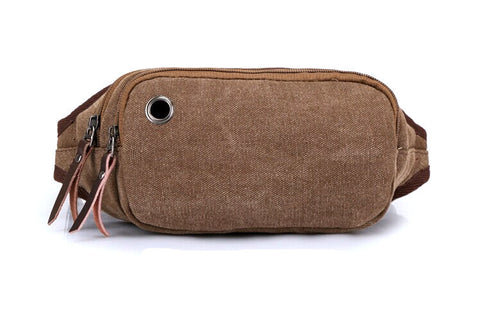 B6006 Classic Premium Canvas Fanny Bags / Waist Bag / Travel Pouch Clearance