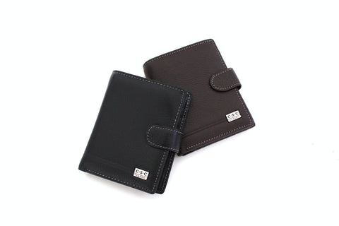 365 FFANY Exclusive Pebble Embossed Genuine Leather Bi-fold Men's Wallet Clearance