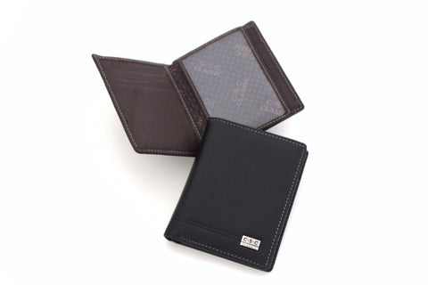 366 FFANY Exclusive Pebble Embossed Genuine Leather Bi-fold Men's Wallet Clearance Free Shipping