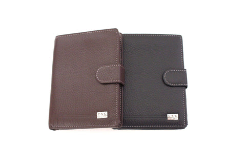 513 FFANY Exclusive Genuine Leather Tri-fold ID Coins Passport Wallet SALE Free Shipping