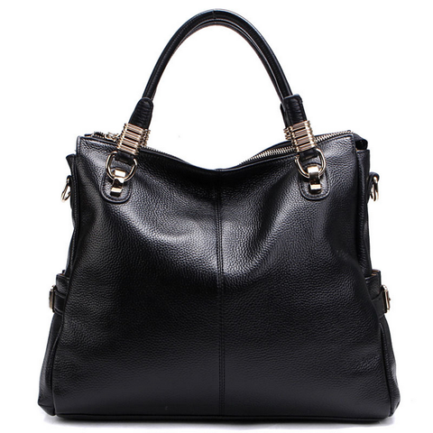 A5039 Classy Pebbled Embossed Genuine Leather Shopping Cross-body Tote Purse - FFANY GIFTS - 8