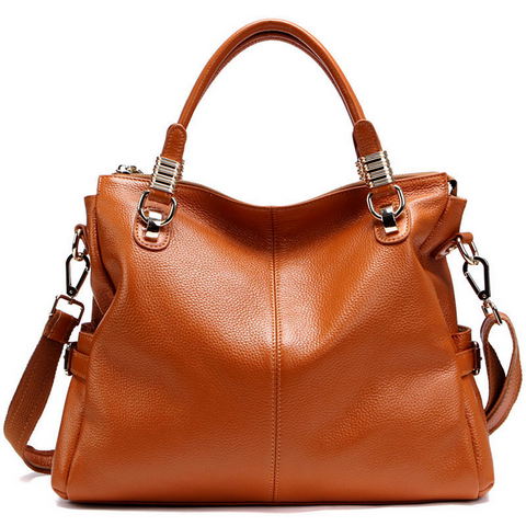 A5039 Classy Pebbled Embossed Genuine Leather Shopping Cross-body Tote Purse - FFANY GIFTS - 9