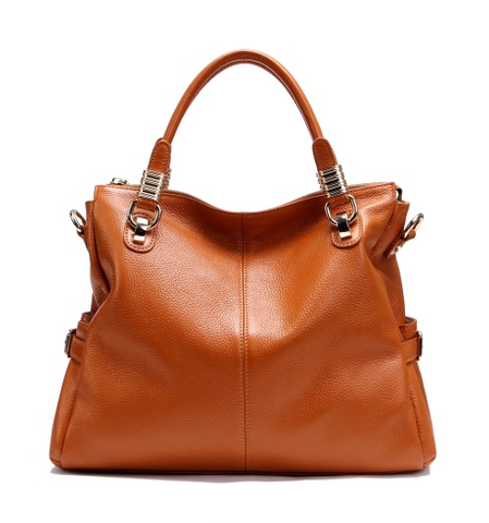 A5039 Classy Pebbled Embossed Genuine Leather Shopping Cross-body Tote Purse - FFANY GIFTS - 11