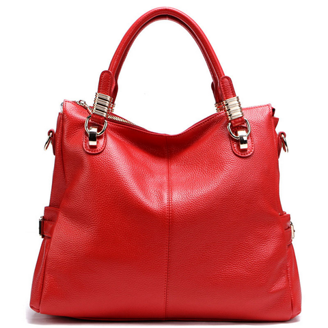 A5039 Classy Pebbled Embossed Genuine Leather Shopping Cross-body Tote Purse - FFANY GIFTS - 5