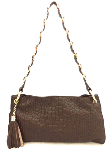 D16074 FFANY Signature Classy Alligator Embossed Genuine Leather Cross-body Shoulder Clutch Purse - FFANY GIFTS - 4