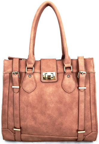 3183 FFANY Exclusive Large Faux Leather Shoulder Shopping Tote Handbag Clearance