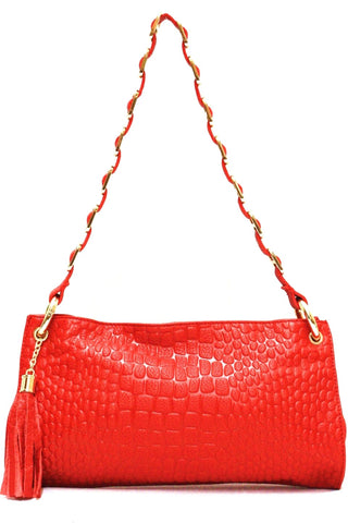 D16074 FFANY Signature Classy Alligator Embossed Genuine Leather Cross-body Shoulder Clutch Purse - FFANY GIFTS - 6