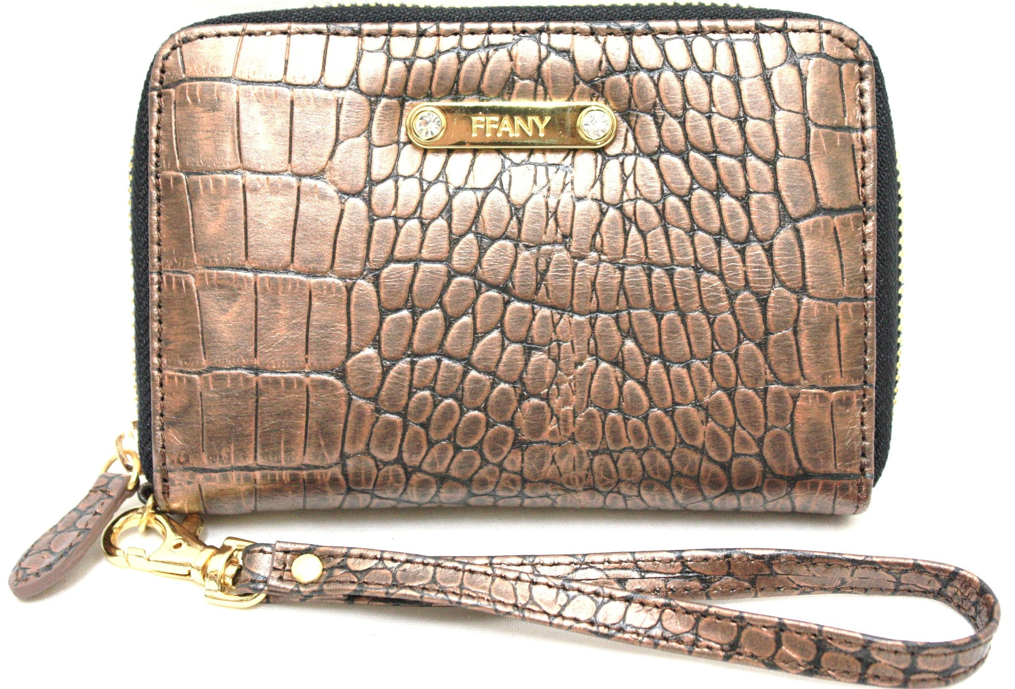 Home   Products   2390140 FFANY Exclusive Chic Short Alligator Embossed  Genuine Leather Zip Around Wallet Clearance 36d89d68de644