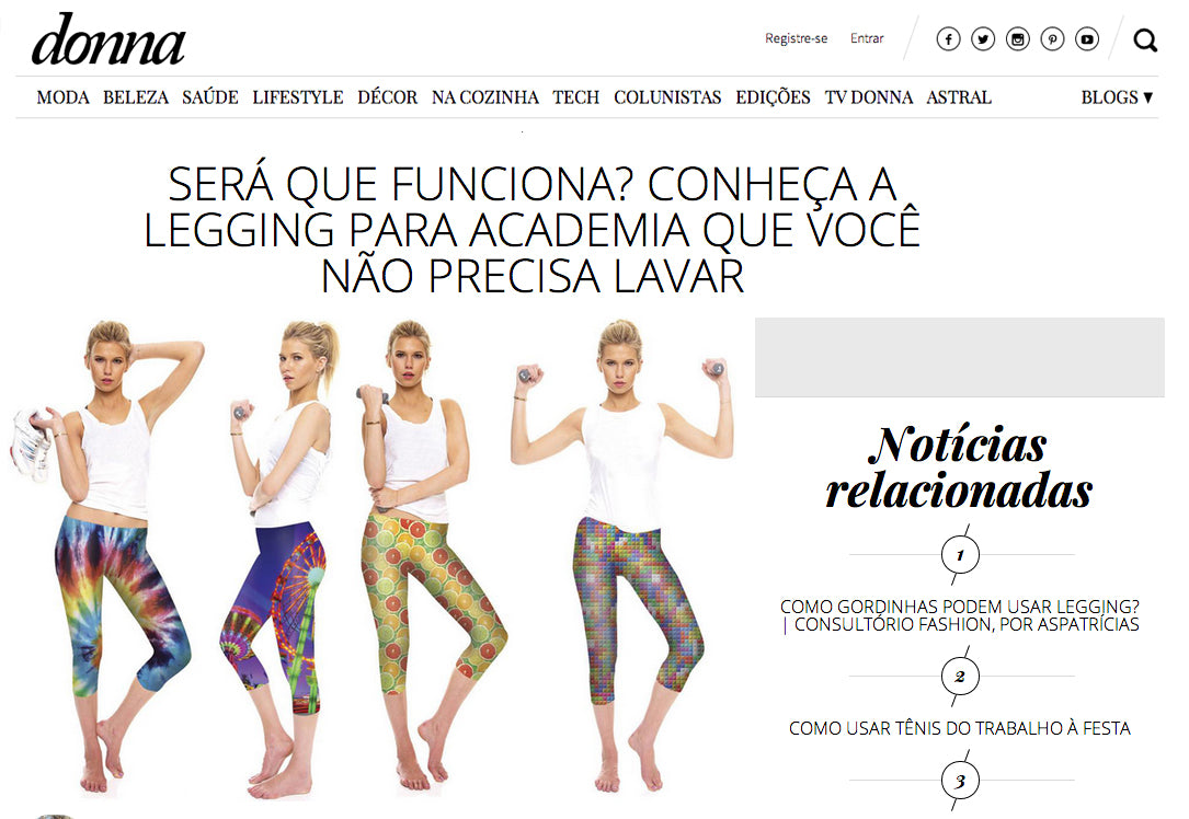 Zara Terez Performance leggings featured on Donna.