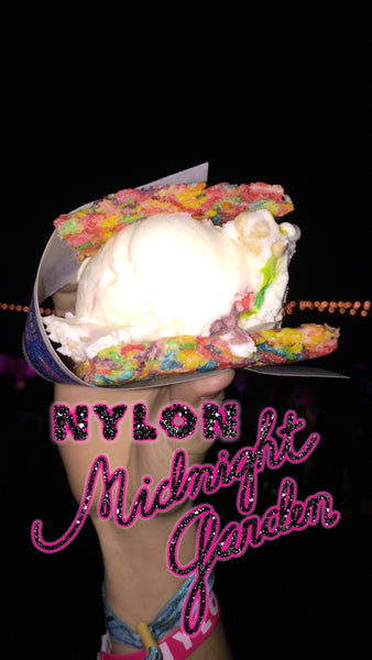Ice cream sandwich at the Nylon event at Coachella