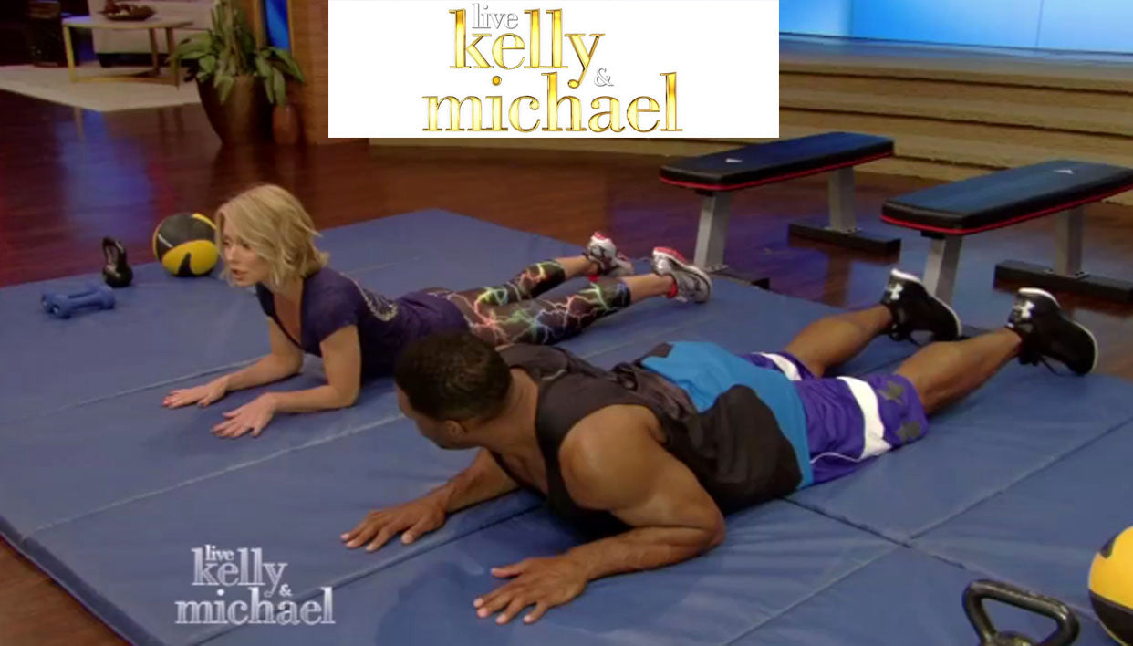 Kelly Ripa wearing Zara Terez Capri Leggings