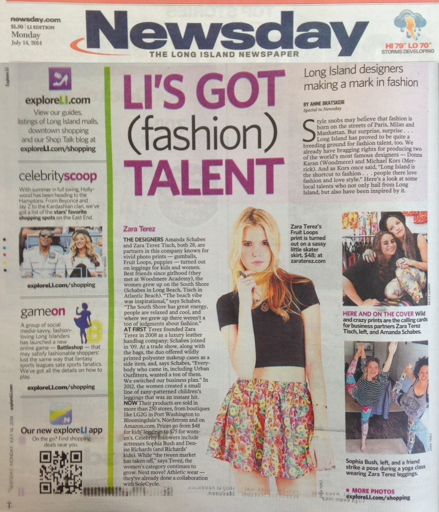 Zara Terez in Newsday